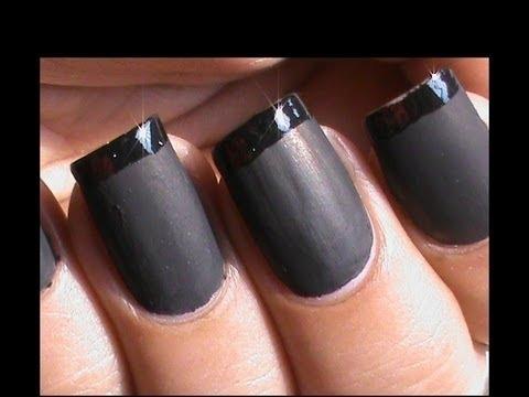 matte nail polish designs  french tip matte nails  matte