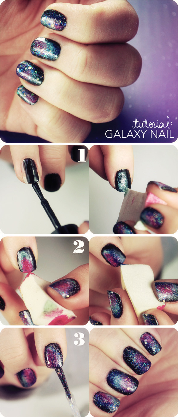 Galaxy nails step by step