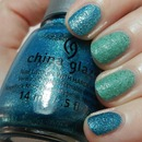 China Glaze Sea Horsin Around and Teal the Tide Turns