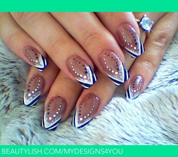 Abstract Black And White Brown Nail Design Liudmila Z S