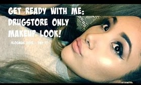 GET READY WITH ME // DRUGSTORE ONLY MAKEUP LOOK // VLOGMAS 2015 // DAY 17