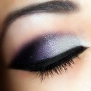 Dramatic purple shadow and liner