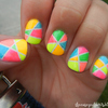 Neon Abstract Nails