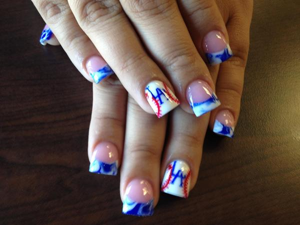 Los Angeles Dodgers Nails. | Nika B.'s Photo | Beautylish