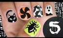 EASY Nail Art for Halloween! 5 DESIGNS!!