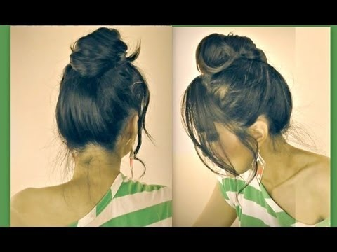 Most popular updos videos beautylish cute mustache hair bun for short medium long hair tutorial diy updo pmusecretfo Image collections