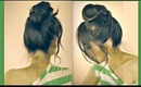★CUTE MUSTACHE HAIR BUN FOR SHORT, MEDIUM, LONG HAIR TUTORIAL |DIY UPDO HAIRSTYLES FOR  SCHOOL PROM