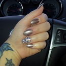 my first stiletto nails.