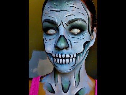 Halloween Series 2015 Cartoon Zombieskeleton Face Paint Tutorial
