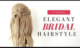 Bridal | Elegant Half Up Half Down Hairstyle