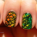Rainbow splatter nails