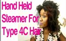 Natural Hair: Q-Redew Hand Held Steamer 4C HAIR Unboxing (Ridiculous Reaction)