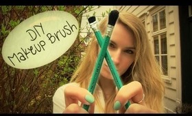 DIY: Makeup Brush! How to Make a Makeup Brush + Brown Natural Smokey Eye Makeup Tutorial