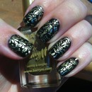 Hand Painted Baroque Nails
