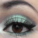 Fresh spring eye makeup