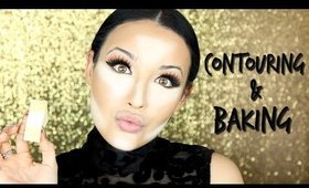Cream Contour & Highlight + Baking Makeup Tutorial  | Tips & Tricks