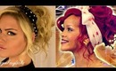 Rihanna Inspired 80's Curly Up-Do Hairstyle