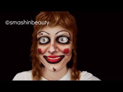 the conjuring annabelle the doll halloween makeup tutorial 2013 creepy doll makeup