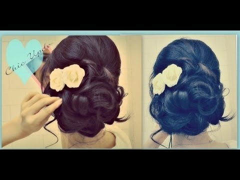 ☆EASY PROM WEDDING HAIRSTYLES WITH CURLS| FORMAL UPDOS FOR MEDIUM LONG HAIR  TUTORIAL |