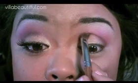 Tutorial Blended Pink, Purple, Yellow Combo Eye  [Coastal Scents Palette]