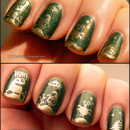 Little aliens in gold with gorgeous green!
