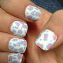 Pink and blue cheetah print