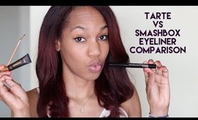 Smashbox vs Tarte Gel Eyeliner Review/Comparison