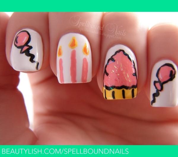 Happy Birthday Nails: Ashley P.'s (spellboundnails) Photo