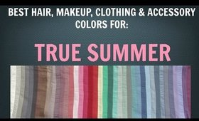 Summer Color Palette: Best Hair, Makeup, Outfit Colors - Cool Skin Tone / Undertone - Color Analysis