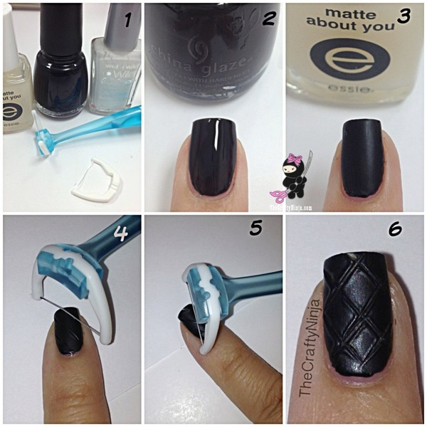 Quilted Nail Tutorial Thecraftyninja Hs Thecraftyninja Photo