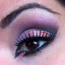 Cut Crease, Rose Gold Glitter & Eyeliner!