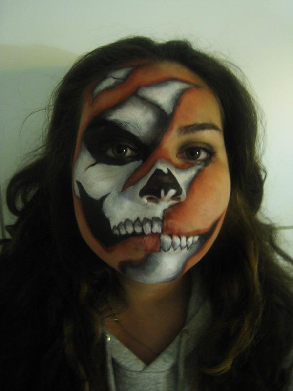 Half Face Devil Paint