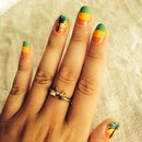 Caribbean style nails!