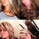 Copied a style Hair color / Highlights and extensions by Christy Farabaugh