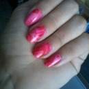 water marble pink