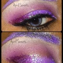 Purple & Pink Glitter Love