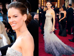 Oscar Makeup 2011: Hilary Swank