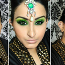 Green Smokey eyes