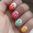 Dripping nailart