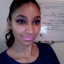 New Years Eve Makeup tutorial! purple smokey with mac st. germain lipstick!