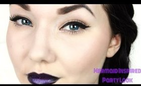 Mermaid inspired party makeup ♡ | Quick & Easy |