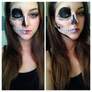 Halloween skull make-up
