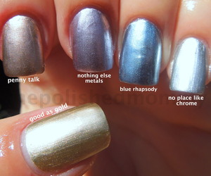 more swatches and comparisons:http://www.thepolishedmommy.com/2012/08/essie-mirrored-metallics.html#