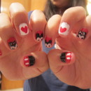 Minnie and Mickie Mouse nails