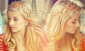 I'M BLONDE! Double Loop Braids & Loose Curls Tutorial