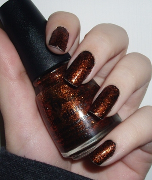 China Glaze Ick-a-bod-y over a black base:D