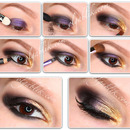 Golden Smokey Eye makeup – Step by step tutorial.