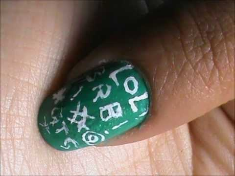 Internet Word Play Nail Designs Tutorial Easy Nail Design
