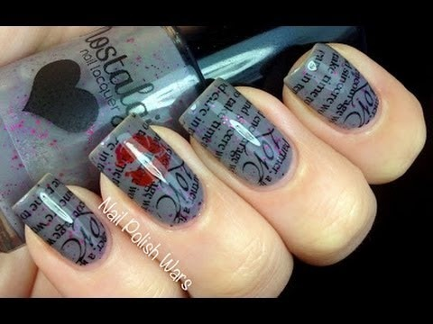 Love letter konad nail art tutorial stamping nail design image konad nail art tutorial stamping nail design image plate nail polish and konad kit prinsesfo Image collections