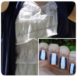 Nail Art Challenge: Match OOTD. http://www.thepolishedmommy.com/2013/05/party-hard-powder-puff.html